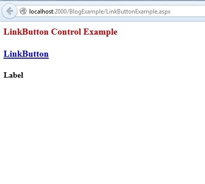 ASP.Net LinkButton Control