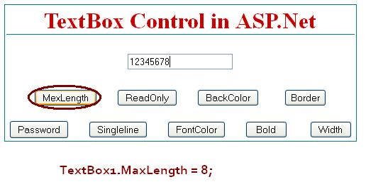 TextBox MexLength  - ASP.Net