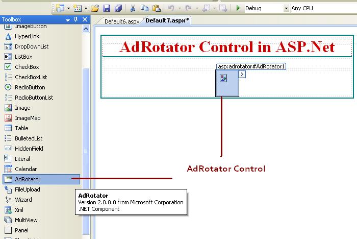 How to use Adrotator control in asp.net C#.