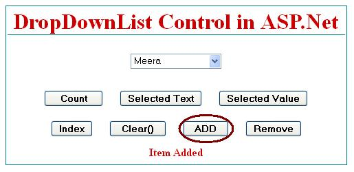How to add new item in dropdownlist control in asp.net C#.