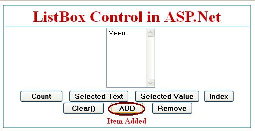How to Add new items in  listbox in asp.net c#.