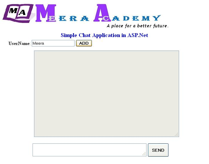 Simple Chat Application in ASP.Net