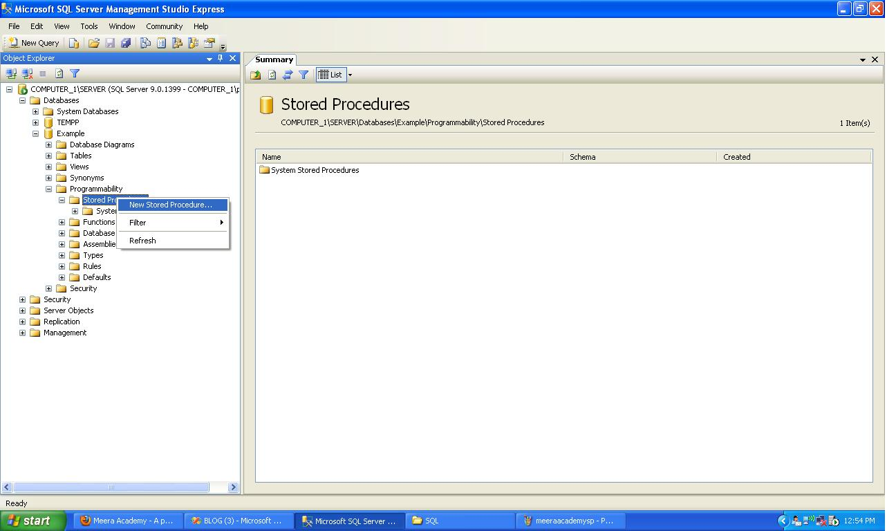 Stored Procedure in SQL - SERVER and ASP.Net