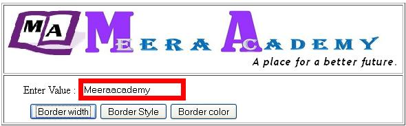 Change Textbox border width in ASP.NET - ASP.NET Textbox Example