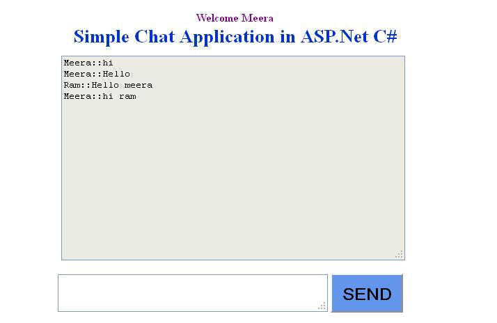 Create simple chat in asp.net with C#