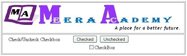 CheckBox Control Example in ASP.Net with C#