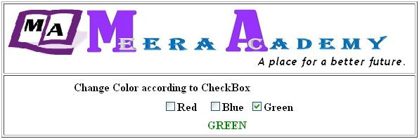 Change Lable color according to CheckBox control state in ASP.Net with C#