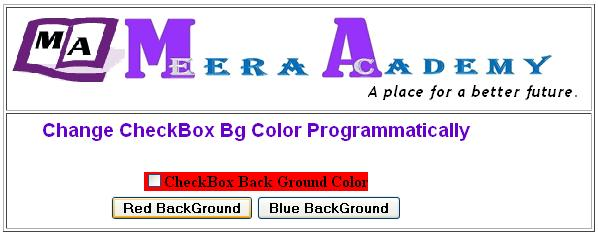 Change Background color CheckBox control in ASP.Net with C#