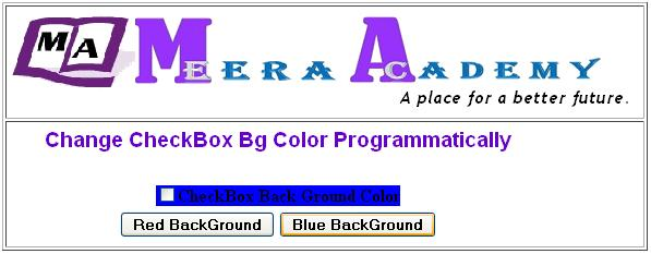 Change Background color CheckBox control in ASP.Net with C#Change Background color CheckBox control in ASP.Net with C#