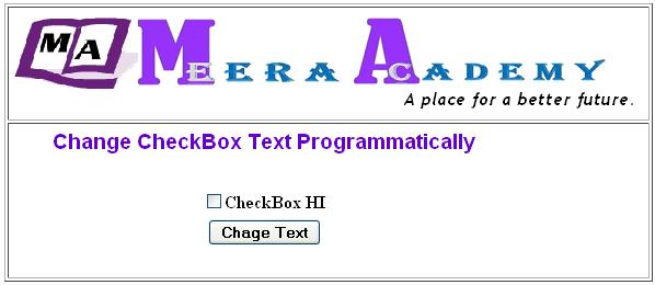 Change Text of CheckBox Control in ASP.Net with C#