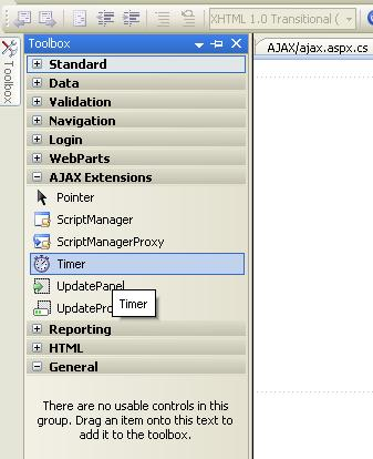 how to use ajax timer control in asp.net,