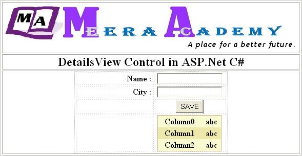 How to use DetailsView Control in ASP.Net C#
