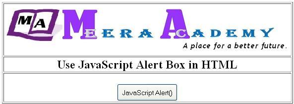 JavaScript alert() box in HTML