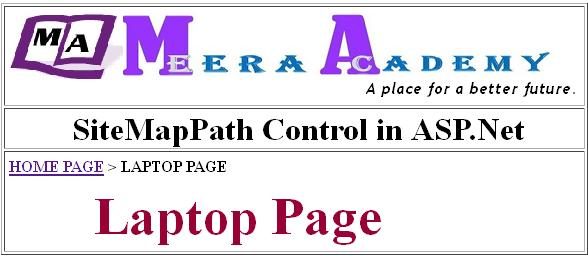 How to use SiteMapPath Control in ASP.Net