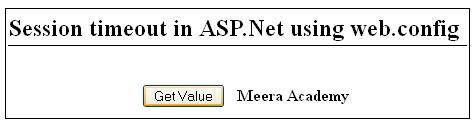 Set Session timeout in asp.net using web.config