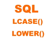 sql lcase and lower function