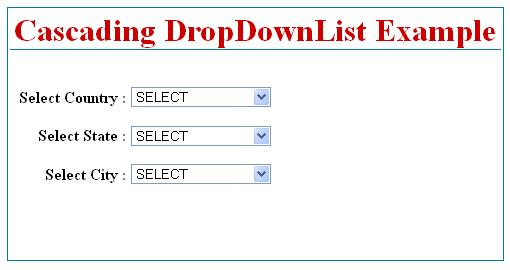 Country State City DropDownList in ASP.Net