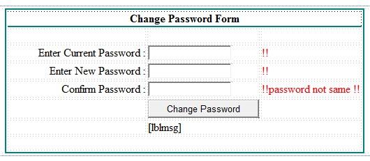change password form in asp.net c#