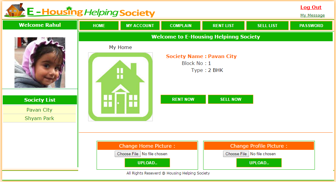 Member Home Page