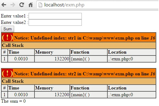 if isset in php