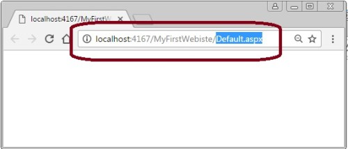 Output of asp.net website after debug application