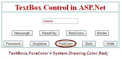 TextBox Font Color - ASP.Net