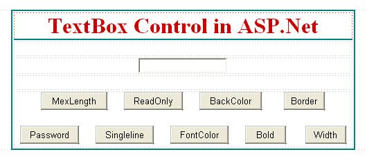 ASP.Net TextBox Control Example