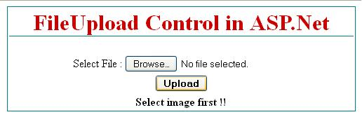 ASP.Net FileUpload Control