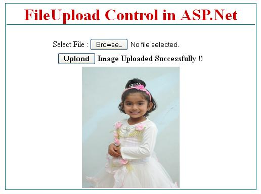 ASP.Net FileUpload Control Example