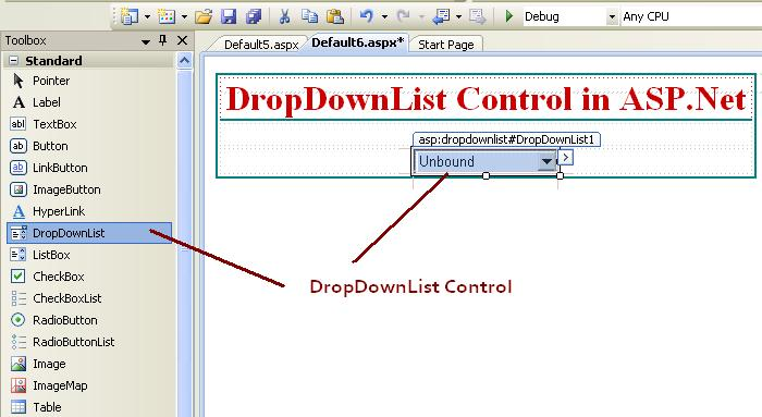 How to use DropDownList control in ASP.Net c#.