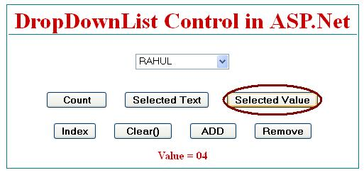Get SelectedValue from dropdownlist control in asp.net
