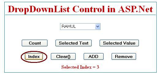 SelectedIndex in dropdownlist control in asp.net C#