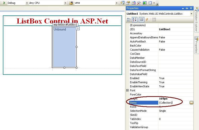 How to use ListBox Control in ASP Net C#
