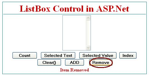 How to Remove Item from listbox in asp.net c#.