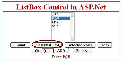 Get Selected Item from listbox control in asp.net c#