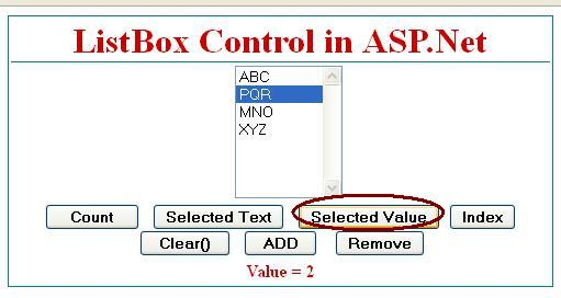 Get Selected Value from listbox control in asp.net c#
