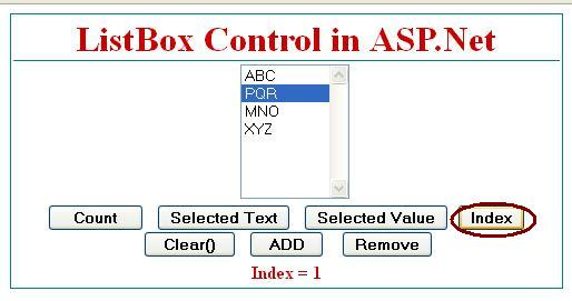Get Selected Index from listbox control in asp.net c#