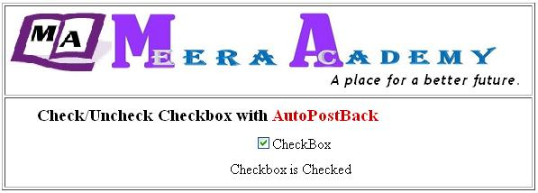 AutoPostBack with CheckBox control in ASP.Net with C#