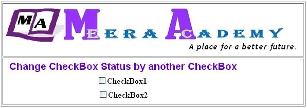 Change check status of CheckBox control in ASP.Net with C#