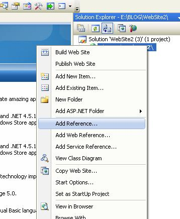 add assembly to web application in asp.net c#