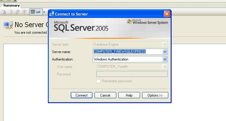 Connectivity Between Windows Application SQL-Server