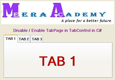 Disable Tab pages in Tab control in Windows Application.