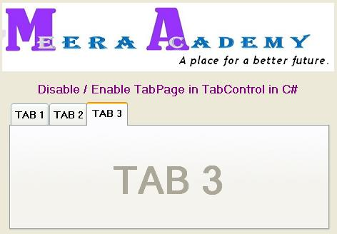 How to disable tab pages click event in tab control c#