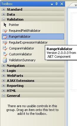 rangevalidator in asp.net