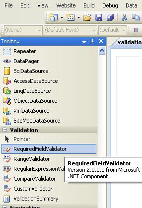 validation control in asp.net