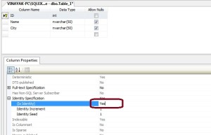 Set Auto Increment Primary key in sql server 2008