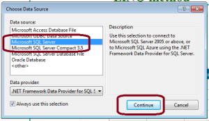ASP.Net - Sql Server connection using LINQ method.