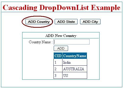 Cascading dropdownlist in asp.net