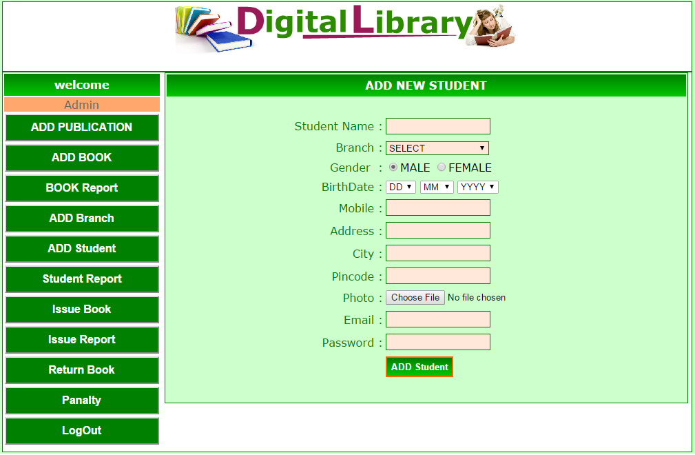 Library Management System Meera Academy