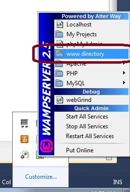 PHP wampserver installtion